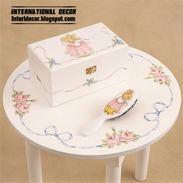 childrens table designs for girls room, white table