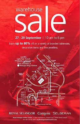 Royal Selangor Warehouse Sale 2013