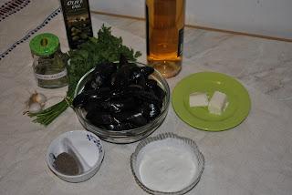 ingrediente pentru scoici marinate