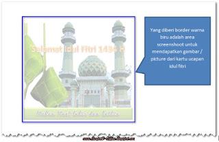 cara membuat kartu Ucapan Selamat Idul Fitri dan Idul Adha 1434H dengan MS Word 2010