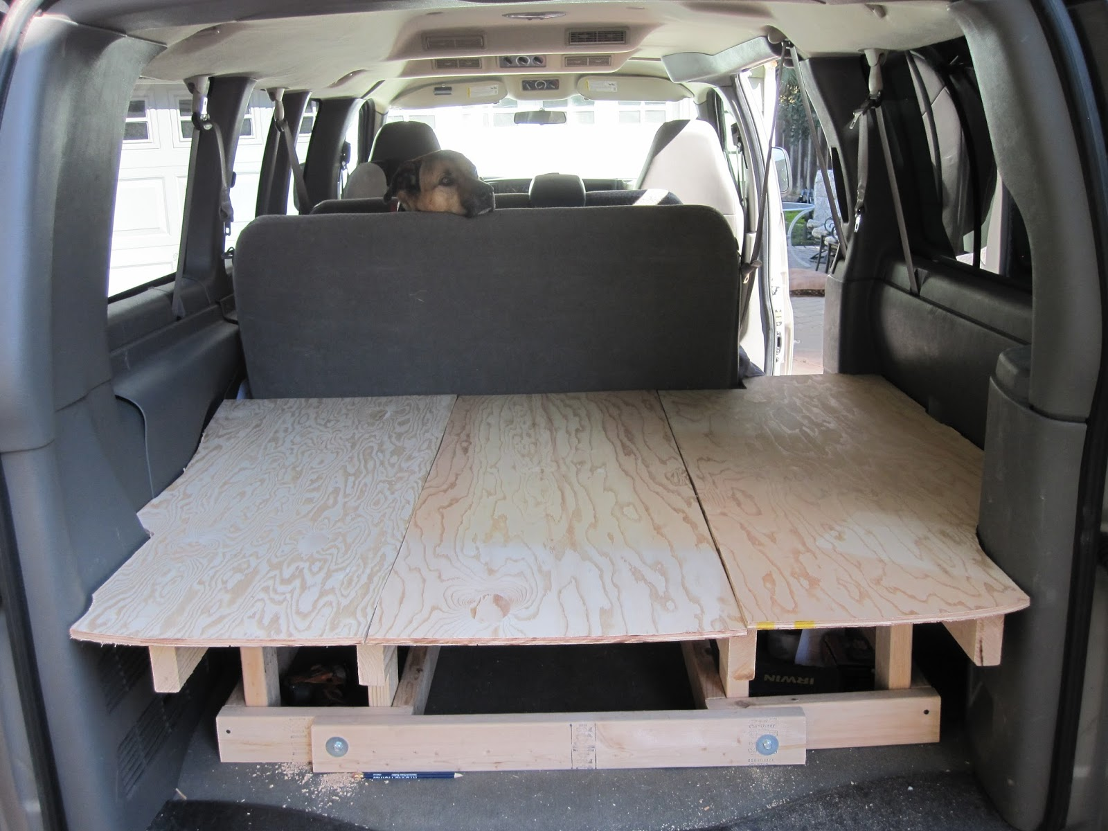Building the Bed and Table | From a Chevy Express to a DIY ...