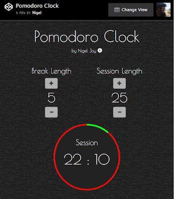 Pomodoro Clock / Countdown Timer