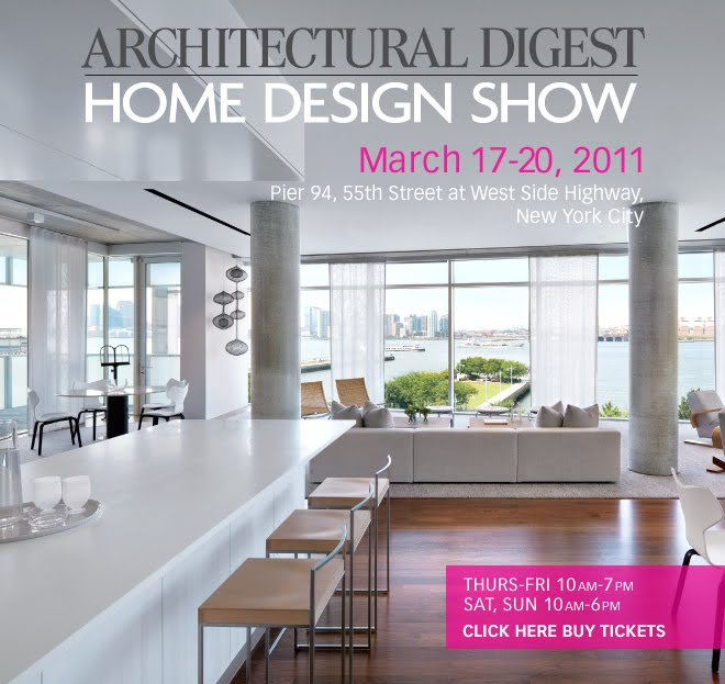 Musings of a furniture maker february 2011 for Architectural digest show