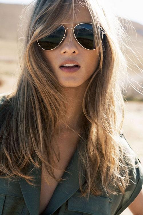 ray ban aviator oversized sunglasses