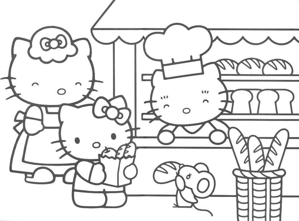 Desenhos Para Colori o hello kitty in desenhar