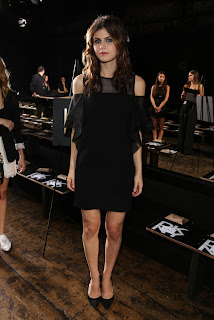 Alexandra Daddario Pictures at DKNY Spring 2014 Fashion Show 0003