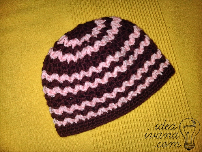 Crochet Patterns Zigzag : zig zag beanie crochet pattern