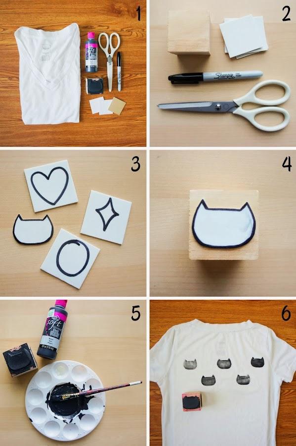 Gran idea para estampar una camiseta