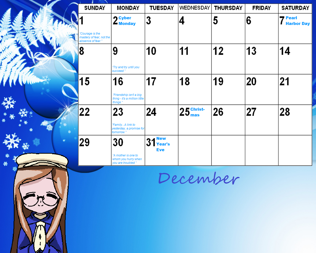 2013 inspirational monthly calendars | just b.CAUSE