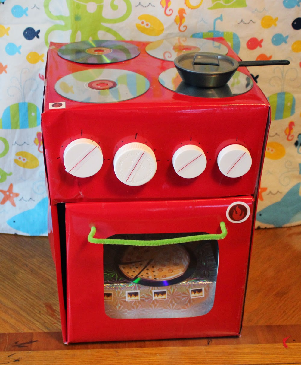 I made for you: Cardboard kitchen appliance, AKA recycled toy.