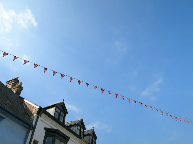 Abergavenny Food Festival Union Jack Britain Bunting Flags