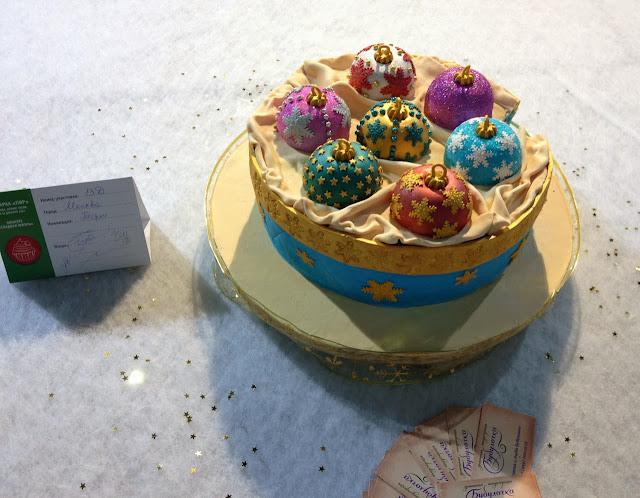 Новогодний торт Елочные игрушки