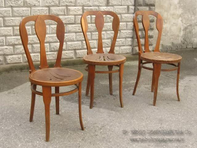 Vīnes krēsli nerestaurēti 3 gab