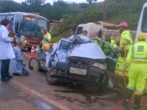 acidente próximo ao trevo de Congonhas quinta-feira 05-02-2015
