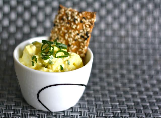 æggesalat med hytteost, æggesalat