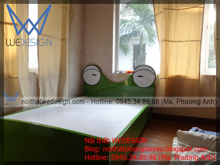 lắp đặt giường ếch ngộ nghĩnh msp: gnn - ech.01 cho bé trai chị Thúy, Hà Đông