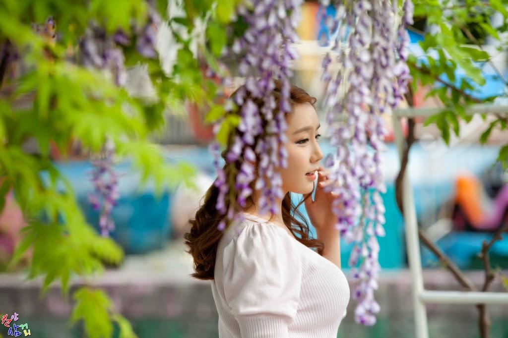 2 Kim Ha Eum - Carny Shoot, Three Outfits- very cute asian girl-girlcute4u.blogspot.com