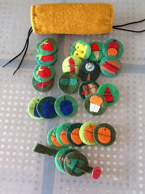 homemade very hungry caterpillar game for toddlers and preschoolers