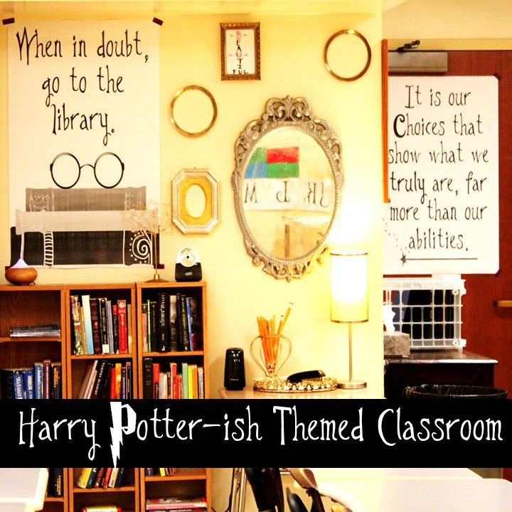 Classroom Decoration Charts For High School ~ B s book love harry potter ish themed classroom