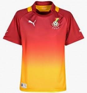 Kostum Timnas Ghana Piala Dunia 2014