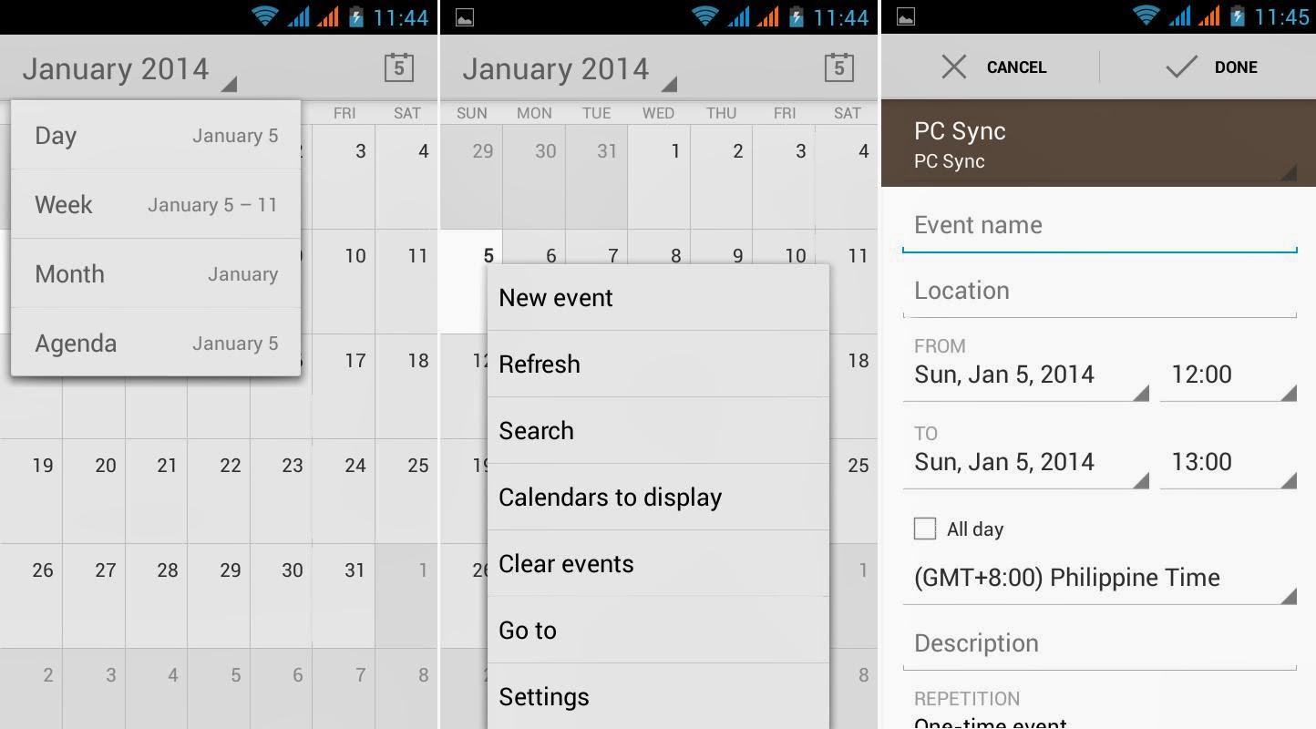 SKK Mobile Glimpse Calendar