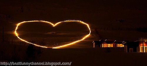 Fiery heart on the sky.