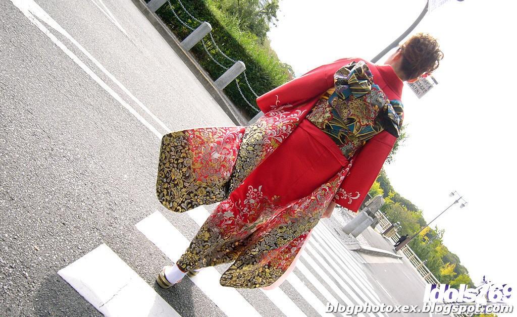 Yamashita kimono clad asian teen