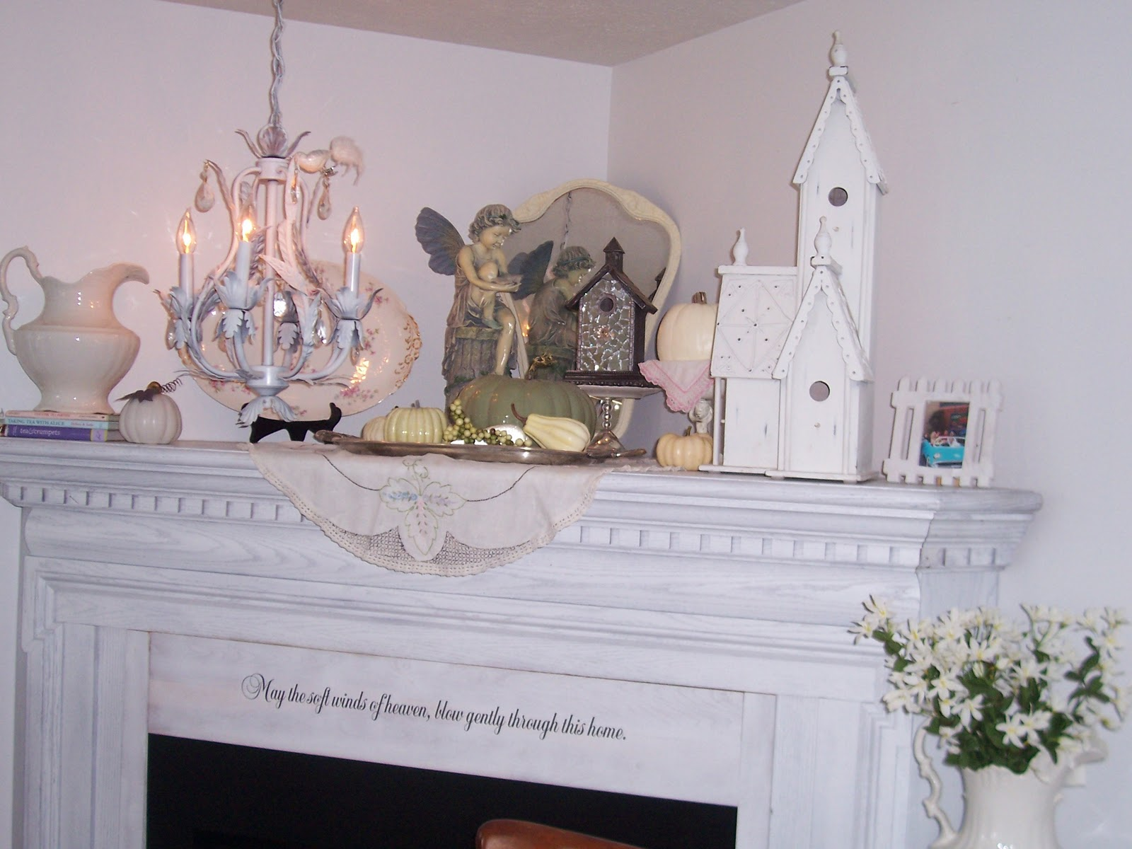 Two Cottages And Tea Shabby Chic Mantel