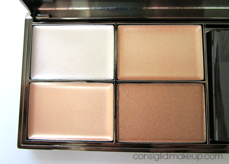 highlighting palette precious metals sleek makeup