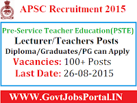 APSC Teacher Recruitment 2015