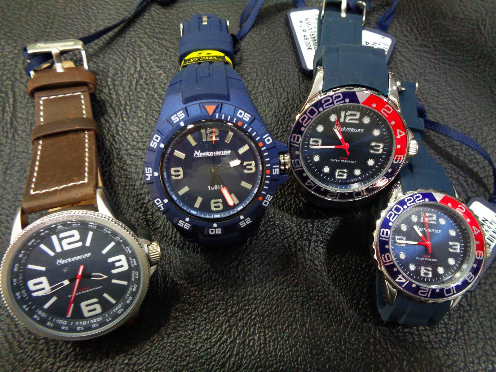 Relojes Neckmarine, acuáticos