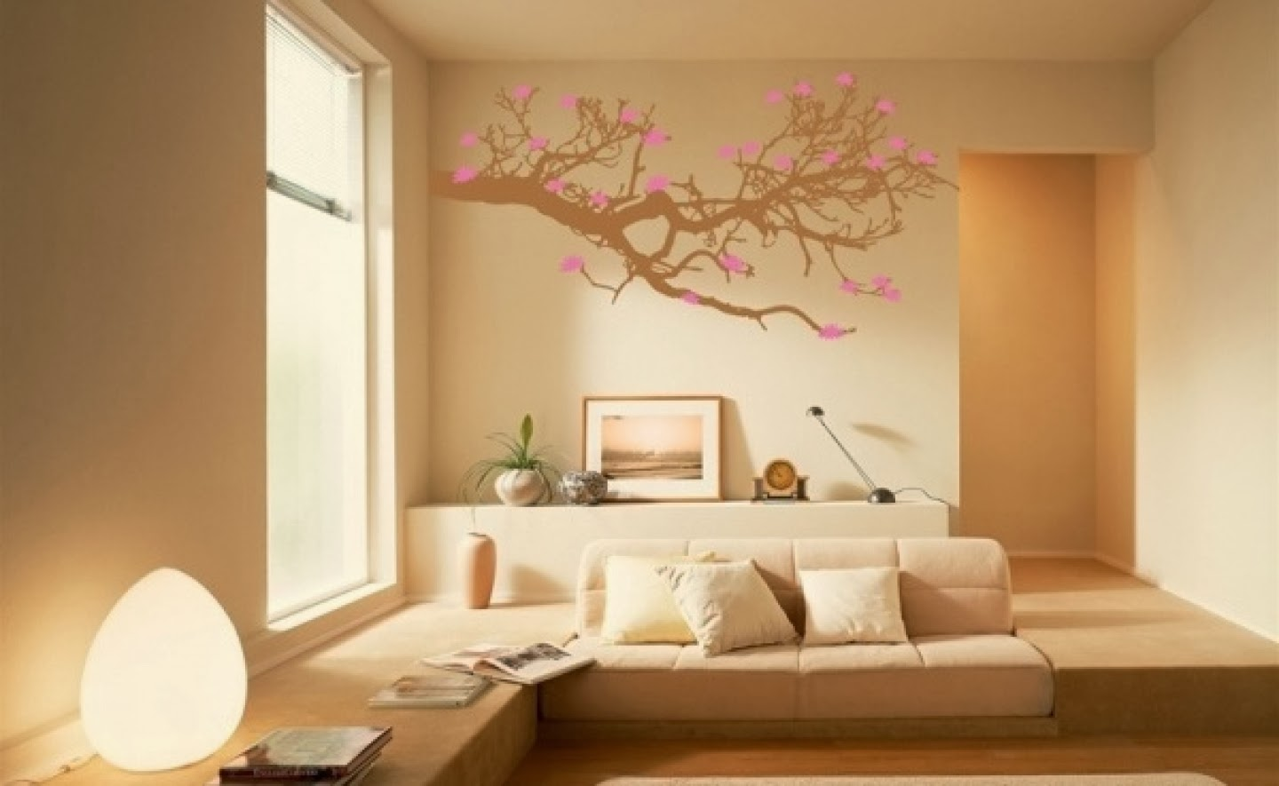 Wallpapers creative wall painting ideas bedroom for Wall designs with paint for a bedroom