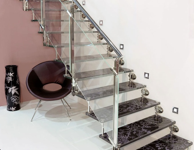 Modern Staircase Design Picture MODERN STAIRCASE WITH GLASS AND WOOD Interior Design Ideas