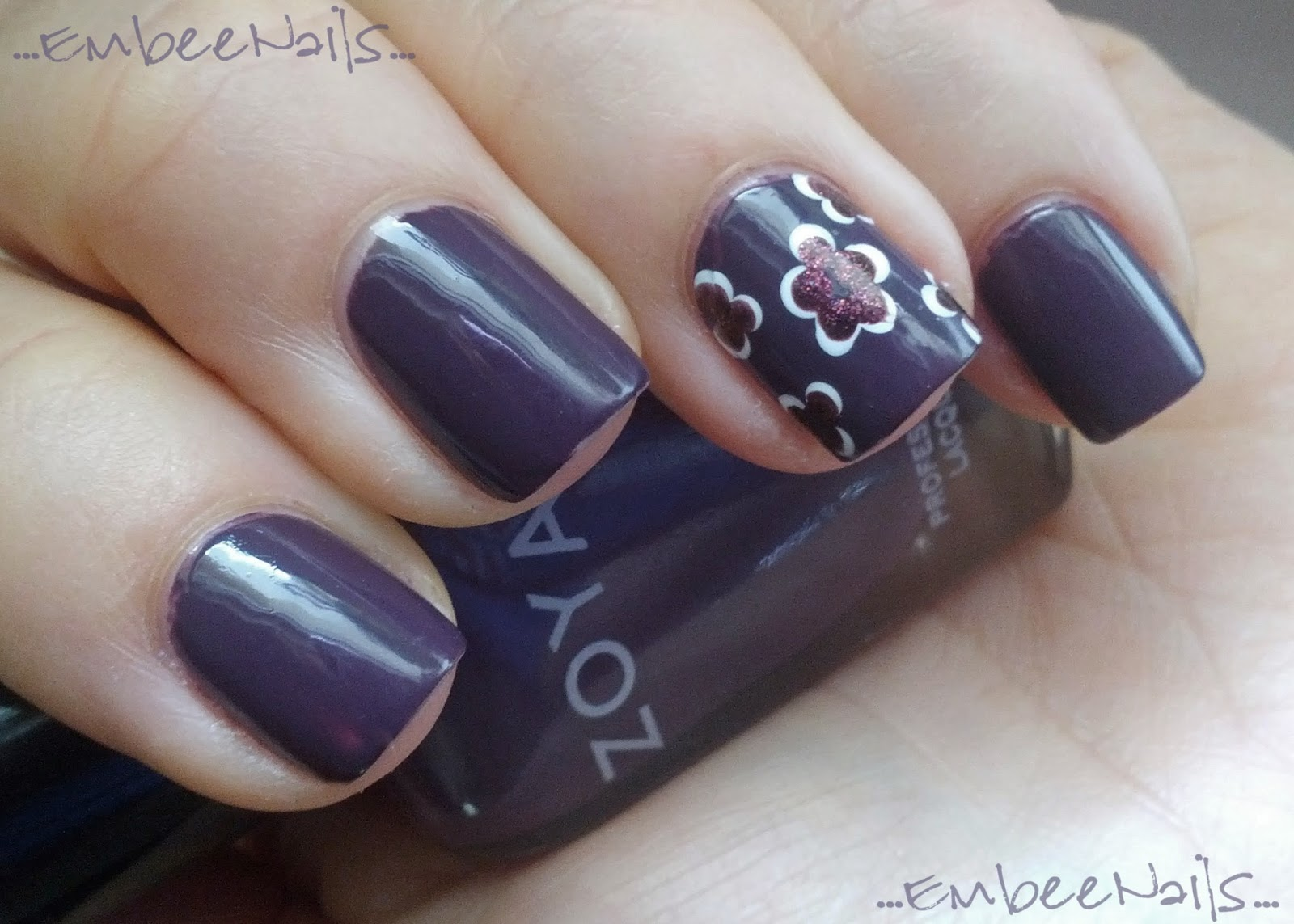Embee Nails: Zoya Monica & Nicole by OPI Shoot for the Maroon