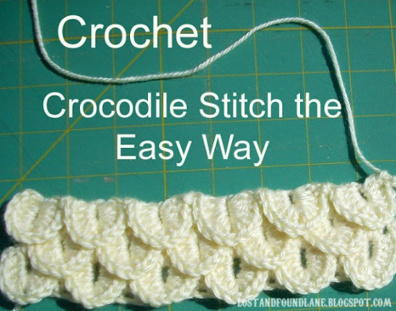 Free Crochet Patterns Using The Crocodile Stitch : Lost and Found Lane: Crocodile Stitch