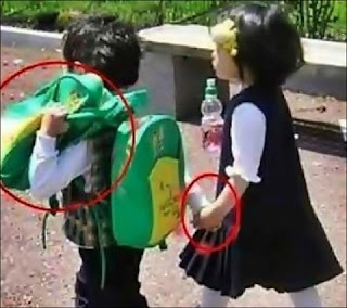 funny picture: children holding hands