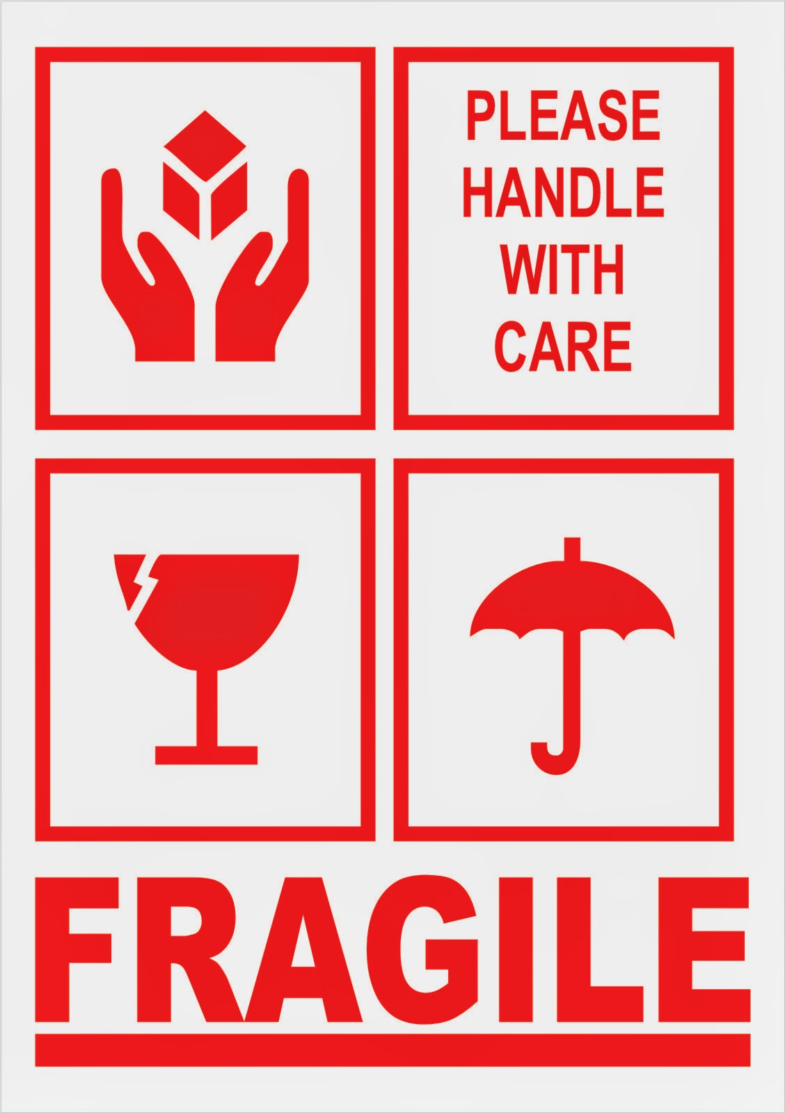 Label Sticker Fragile