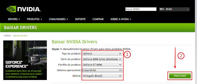 Baixando driver NVIDIA Ubuntu