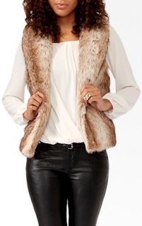 Shawl Collar Faux Fur Vest TAUPE FOREVER21