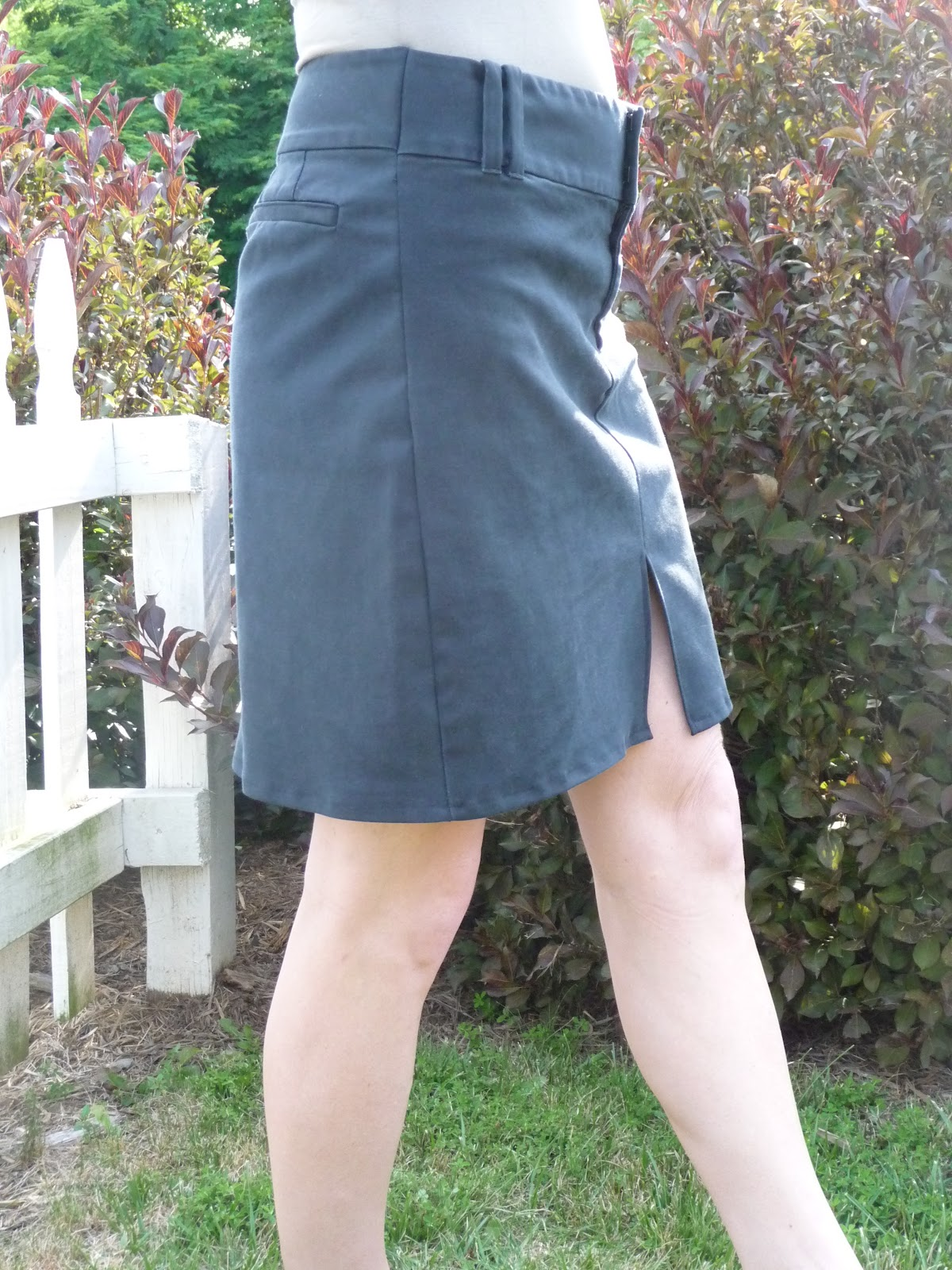 make a skirt from pants