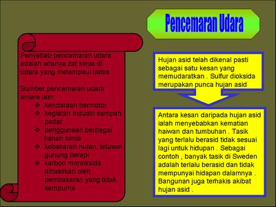Kesan Kesan Pencemaran Alam January 2012