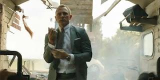 skyfall, bond on train, train crash, bond movie, spy movie, 007, suave
