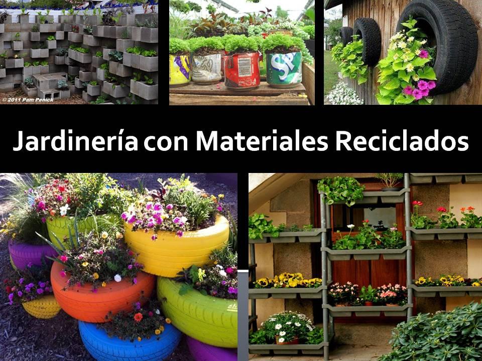 Reciclados jardines y creaciones pinterest for Jardines reciclados