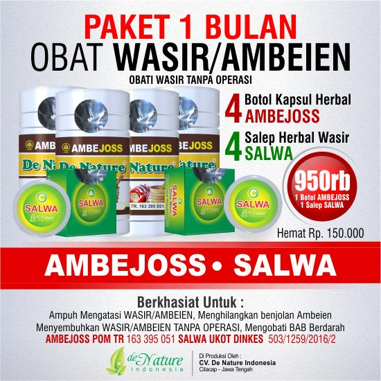 Obat Wasir Hemoroid De Nature