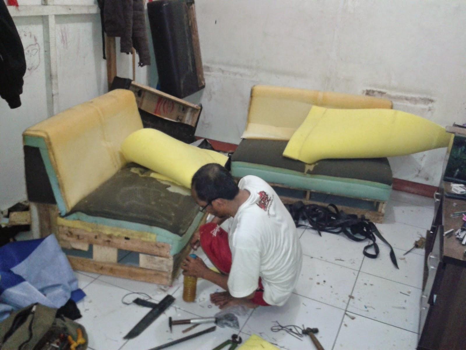 ganti kain/kulit sofa