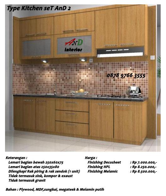 And interi0r kitchen set modern minimalis for Daftar harga kitchen set