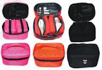 gambar cosmetic bag organizer,gambar make up bag organizer,gambar serangkaian tas organizer