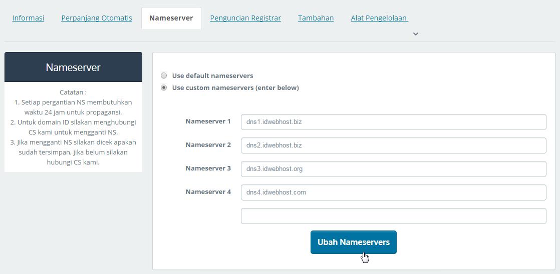 Custom Domain Blogger (Blogspot) Di IdWebhost