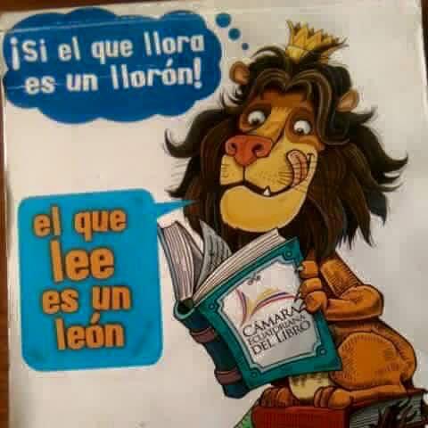 Si o que chora é un choron, o que lee é un...LEÓN!!
