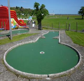 Mini Golf course in Goodrington Park at Goodrington Sands, Paignton, Devon